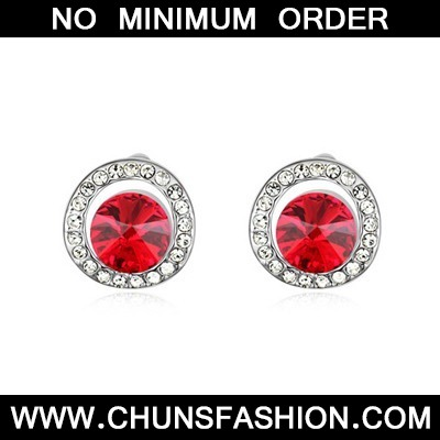 Light Red Round Shape With Diamond
