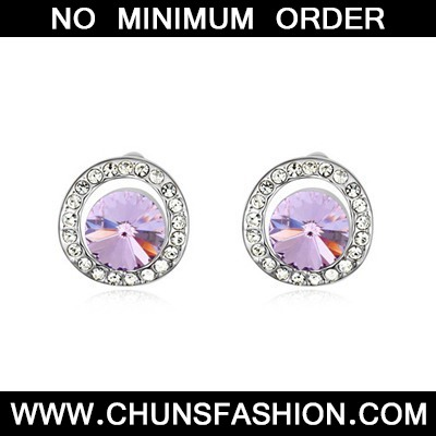 Violet Round Shape With Diamond Austrian