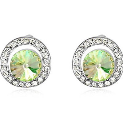 Luminous Green Round Shape With Diamond