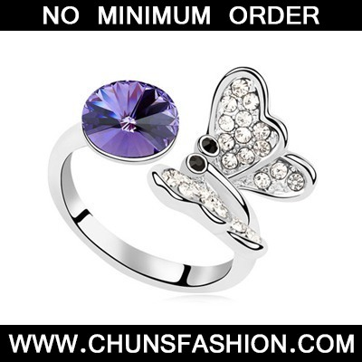 Tanzanite Full Of Diamond Butterfly Austrian