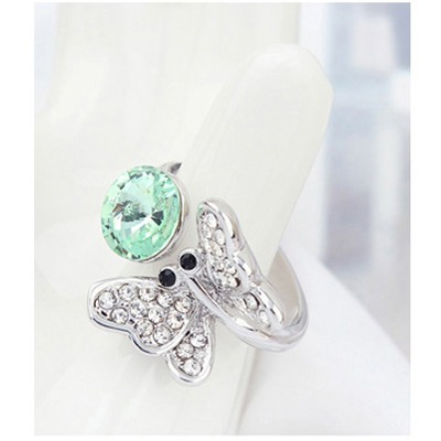 Luminous Green Full Of Diamond Butterfly