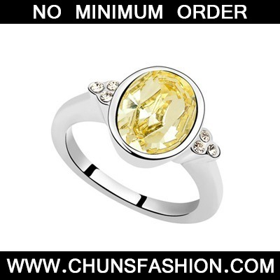 Light Yellow Oval Shape Austrian Crystal