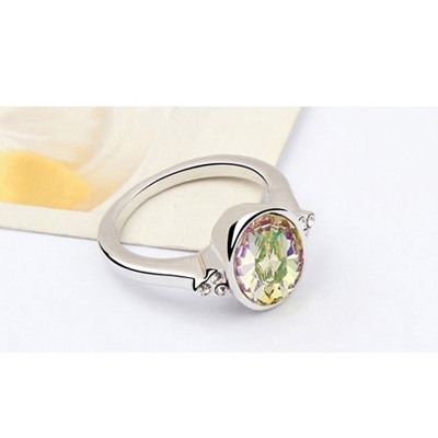 Luminous Green Oval Shape Austrian Crystal