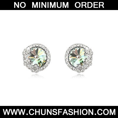 Chrysolite Sparkly Diamond Austrian Crystal Earring