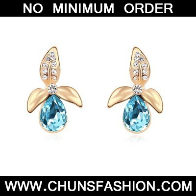 Ocean Blue&Champagne Gold Flower Matching Water