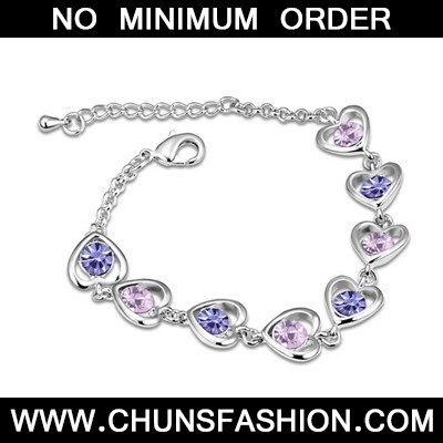 Tanzanite Heart Linked To Heart Austrian