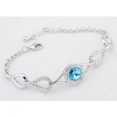 Ocean Blue Water Drop Shape Link