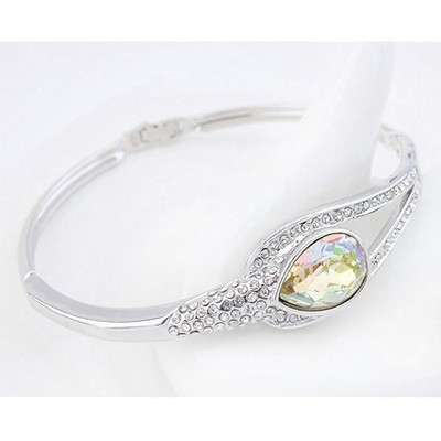 Luminous Green Tear Shape Austrian Crystal