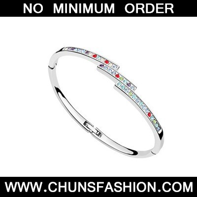 MultiDiamond Thin Austrian Crystal Bracelet