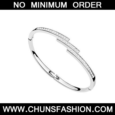 White Diamond Thin Austrian Crystal Bracelet