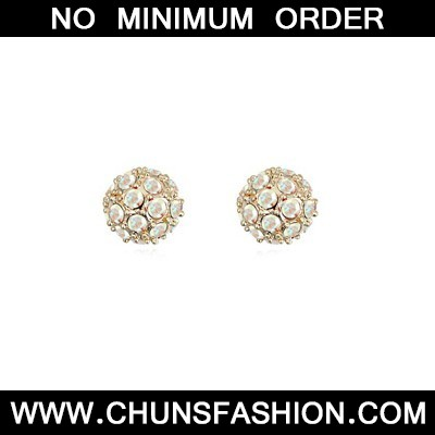 white CZ diamond ball shape Crystal