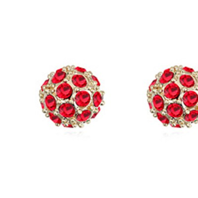 light red CZ diamond ball shape