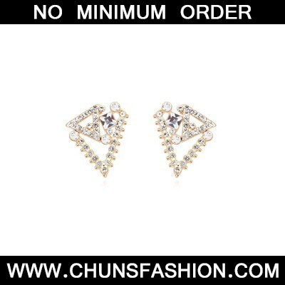 white geometrical shape Crystal Earring