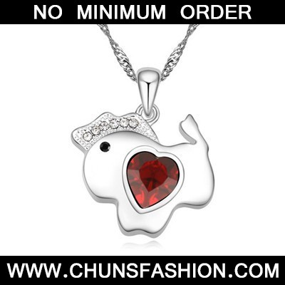 red diamond horse pendant Crystal Necklace
