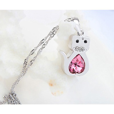 plum red diamond tiger pendant Crystal - Click Image to Close