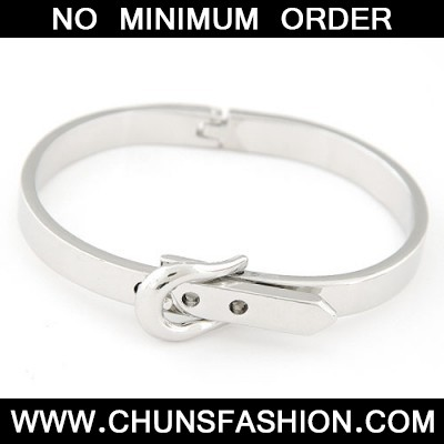silver Belt buckle Bangle