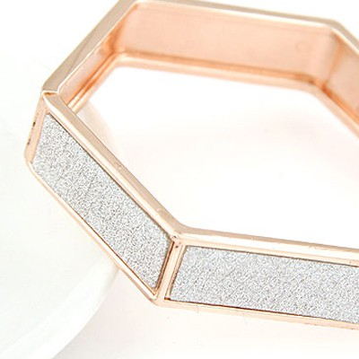 rose gold metal Hexagon Bangle