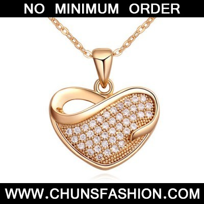 white & champagne gold diamond heart