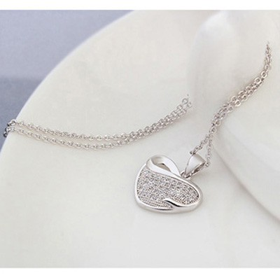 white diamond heart shape zircon Crystal