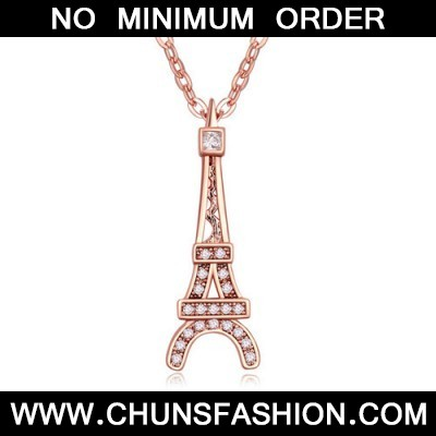 white & rose gold Eiffel Tower