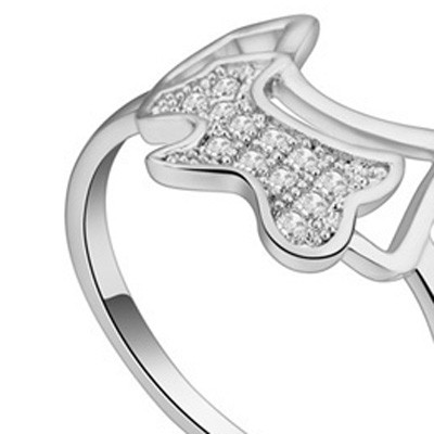 white diamond dog shape zircon Crystal