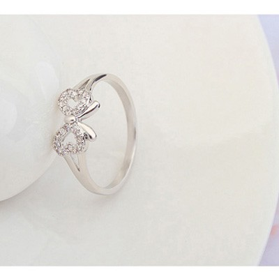 white diamond bowknot shape zircon Crystal