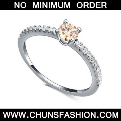 champagne diamond zircon Crystal Ring