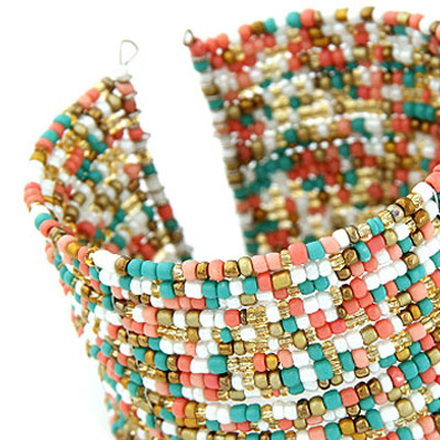 multibeads multi layer Bangle