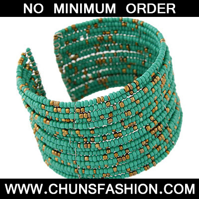 green beads multi layer Bangle