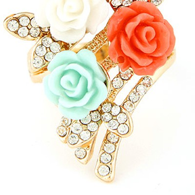 multidiamond flower Ring