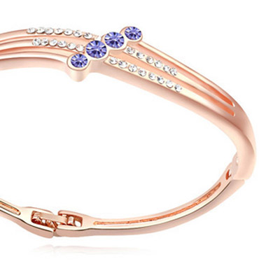 pinkish purple & rose gold diamond