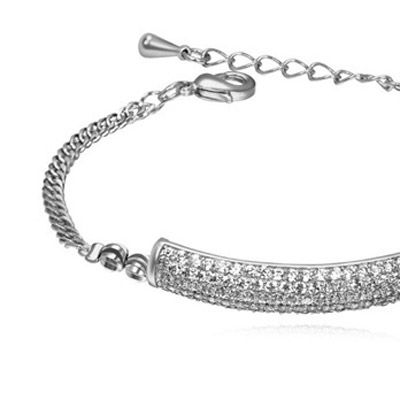 white diamond rectangular shape Crystal Bracelet