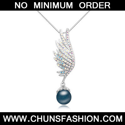 Dark Blue Pearl Wing Shape Crystal