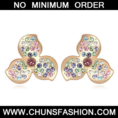 Multi& Champagne Gold Diamond Clover Shape