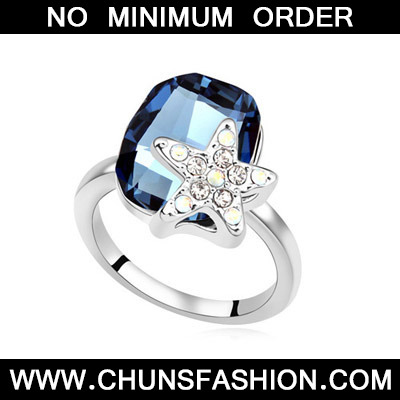 Dark Blue Diamond Star Shape Crystal
