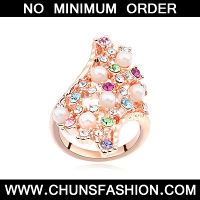 Multi& Rose Gold Diamond Geometrical Shape