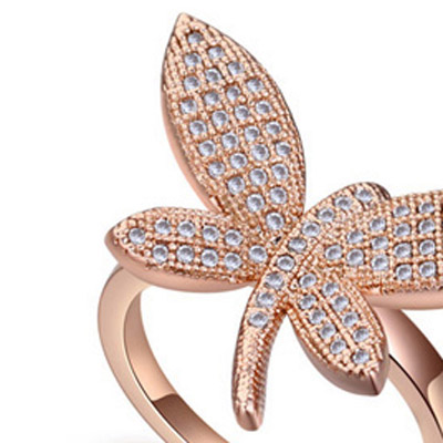 White & Rose Gold Diamond Dragonfly