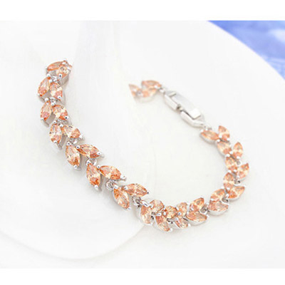Champagne Diamond Leaf Shape Zircon Crystal
