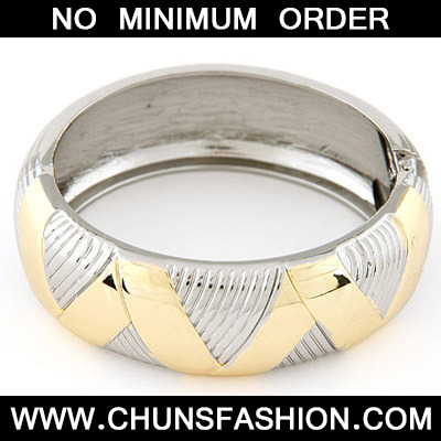 Gold & Silver Round Shape Bangle
