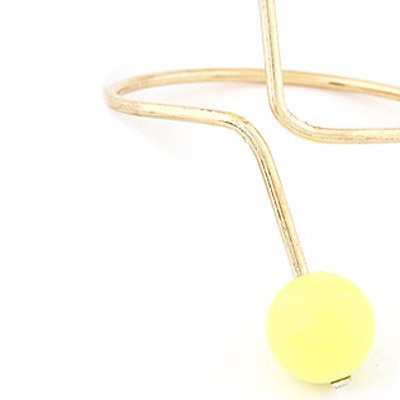 Yellow Candy Ball Desgin Bangle