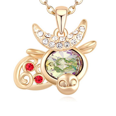 Green & Champagne Gold Diamond Cow