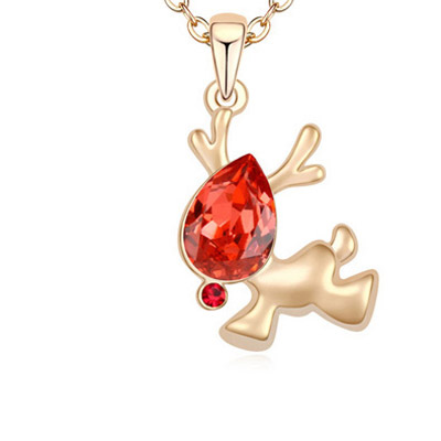 Padparadscha & Champagne Gold Diamond Deer