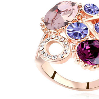 Purple & Rose Gold Diamond Geometrical