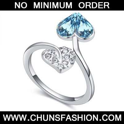 Navy Blue Diamond Heart Shape Crystal