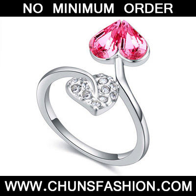Light Plum Red Diamond Heart Shape