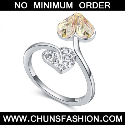 Glow Green Diamond Heart Shape Crystal