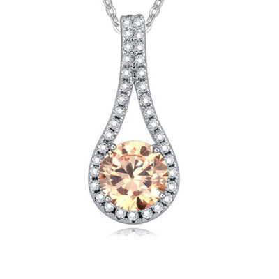 Champagne Diamond Geometric Shape Pendant Crystal