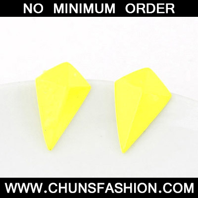 Yellow Geometrical Shape Stud Earring