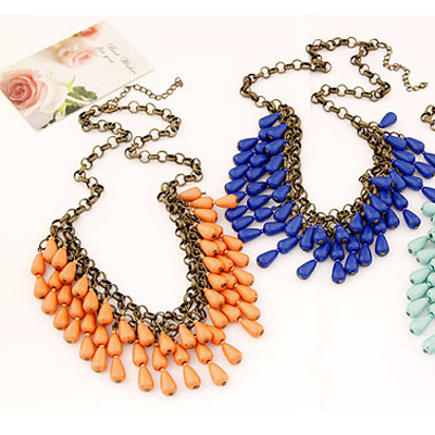 Waterdrop Shape Double Layer Necklace