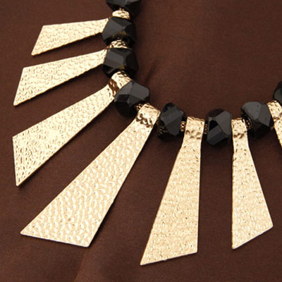 Gold Triangle Shape Necklace